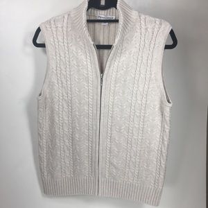 EUC PENDLETON sweater vest cream color Sz M D114